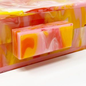 Closet Rehab Bags - Acrylic Party Box in Pink and Yellow